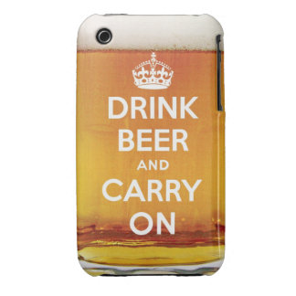 Funny drink beer and carry on iPhone 3 Case-Mate cases