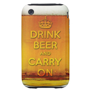 Funny drink beer and carry on iPhone 3 tough cover