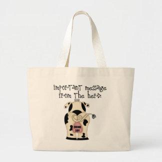 Funny Drink Soy Tote Bag For Vegans