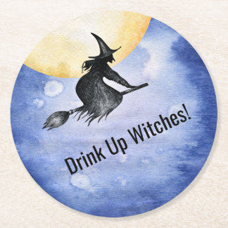 Funny Drink Up Witches Halloween Coaster