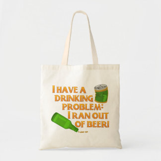 Funny Drinking Beer Budget Tote Bag