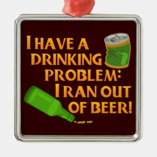 Funny Drinking Beer Christmas Ornament