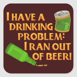 Funny Drinking Beer Stickers