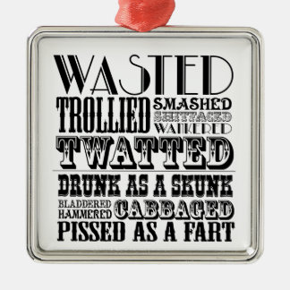 Funny drinking christmas ornament