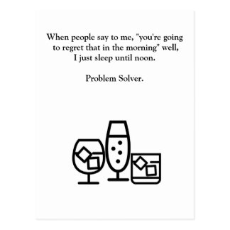 Funny Drinking Hangover Postcard