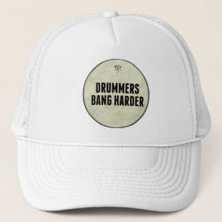 Funny Drum Head Drummers Bang Harder Hat