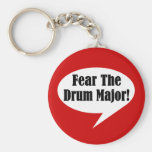 Funny Drum Major Basic Round Button Key Ring
