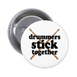Funny Drummer 6 Cm Round Badge