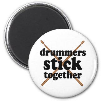 Funny Drummer 6 Cm Round Magnet