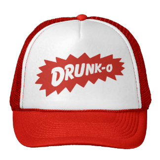 Funny 'DRUNK-O' Mesh Truckers Hat (red)