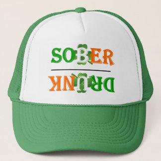 Funny drunk sober  St Patrick's day Trucker Hat