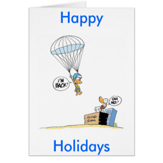 Funny Duck Cartoon Happy Holidays Greeting Card