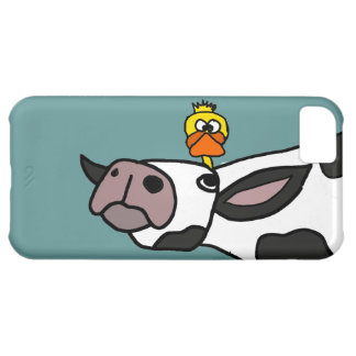 Funny Duck on a Cow Cartoon iPhone 5C Case