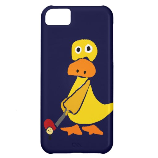 Funny Duck Playing Golf Primitive Art Cover For iPhone 5C