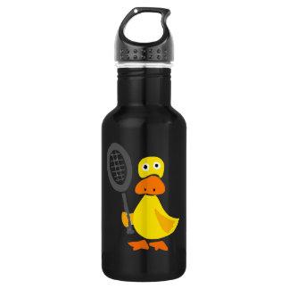 Funny Duck Playing Tennis Cartoon 532 Ml Water Bottle