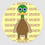 funny duck round stickers