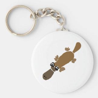 Funny Duckbill Platypus Art Key Ring