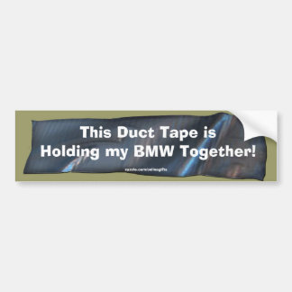 Funny Duct Tape Bumper Sticker for BMW Cars