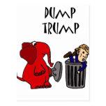 Funny Dump Trump Political Cartoon Art Postcard