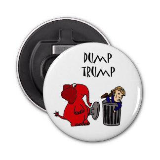 Funny Dump Trump Political Cartoon Bottle Opener