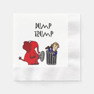 Funny Dump Trump Political Cartoon Disposable Napkins