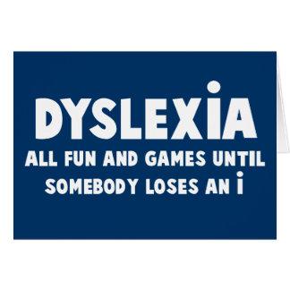 Funny dyslexia greeting card