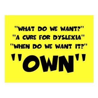 Funny dyslexic postcard