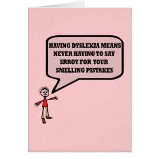 Funny dyslexic slogan card