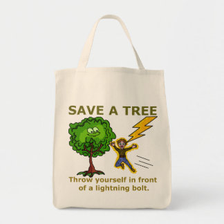 Funny Earth Day Grocery Tote Bag