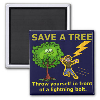 Funny Earth Day Tree Refrigerator Magnets