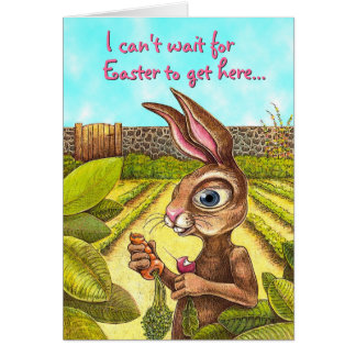 Funny Easter Bunny Card