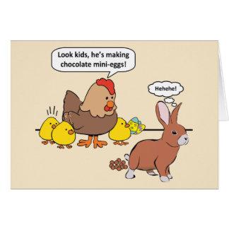 Funny Easter Bunny Chocolate Eggs Card