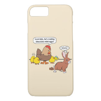Funny Easter Bunny Chocolate Eggs iPhone 7 Case