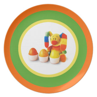 Funny Easter Bunny. Easter Gift Plate