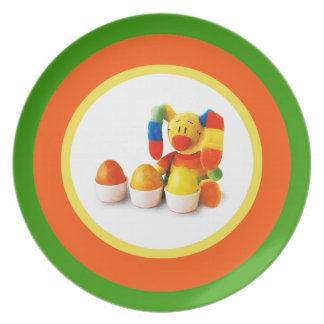 Funny Easter Bunny. Easter Gift Plates