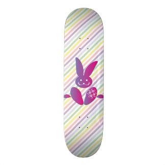 Funny Easter Bunny on Stripes Custom Skate Board