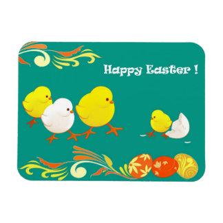 Funny Easter Chicks. Easter Gift Magnet