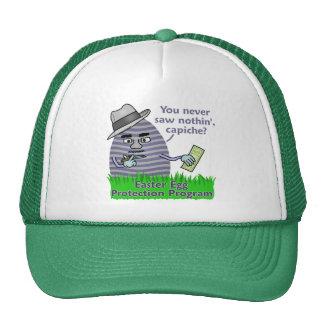 Funny Easter Egg Protection Program Trucker Hat