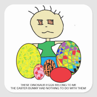 FUNNY EASTER EGG STICKERS