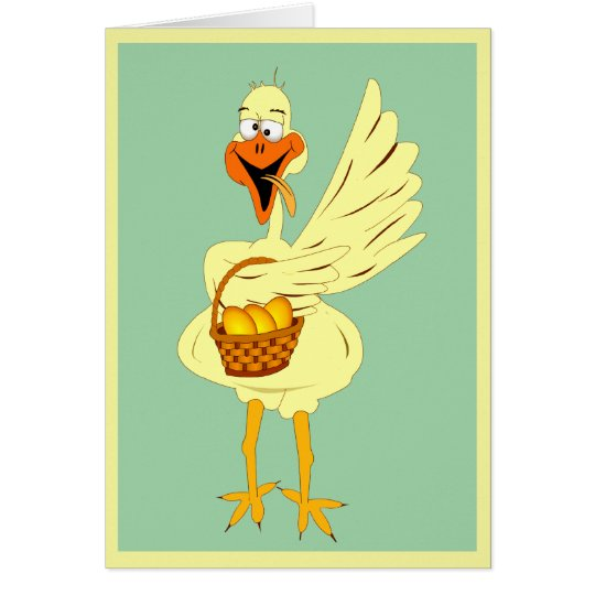 Funny Easter Goose Greeting Card