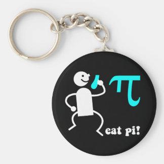 Funny eat pi key ring