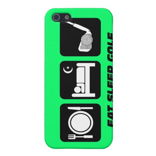 funny eat sleep golf covers for iPhone 5