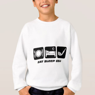 Funny eat sleep golf sweatshirt