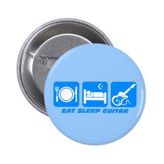 Funny eat sleep guitar 6 cm round badge