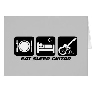 Funny eat sleep guitar greeting card