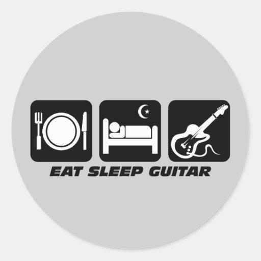Funny eat sleep guitar stickers