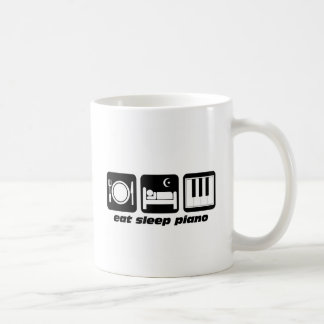 Funny eat sleep piano coffee mug