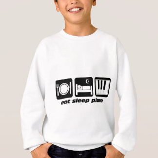 Funny eat sleep piano sweatshirt