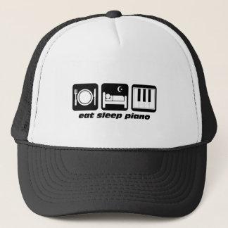 Funny eat sleep piano trucker hat