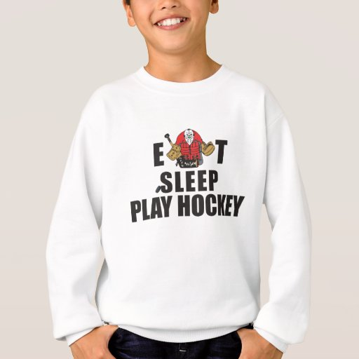 Funny Eat Sleep Play Hockey Goalie Sweatshirt